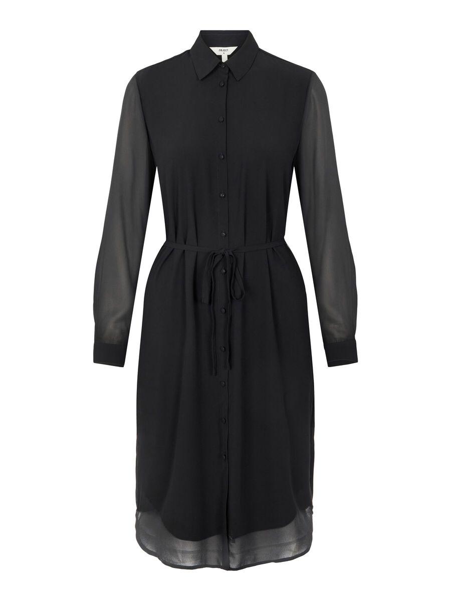 Object Collectors Item LONG SLEEVED SHIRT DRESS, Black, highres - 23035762_Black_001.jpg