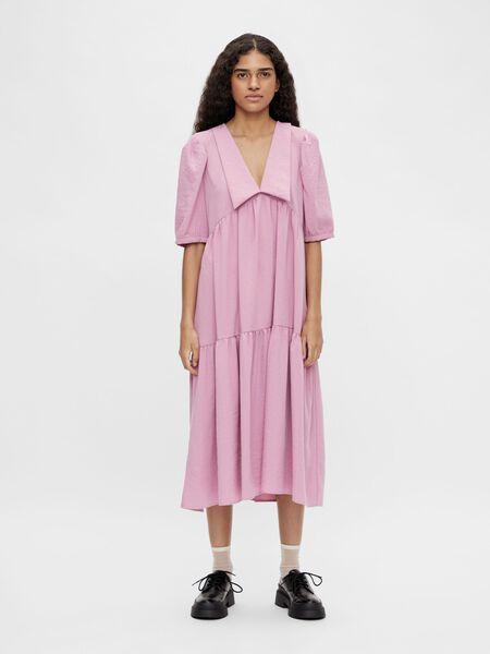 CHELSEA COLLAR PUFF SLEEVED DRESS