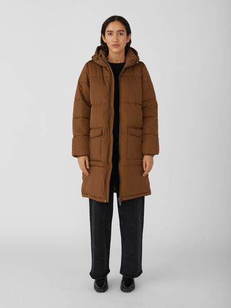 Object Collectors Item HOODED QUILTED COAT, Sepia, highres - 23030254_Sepia_003.jpg