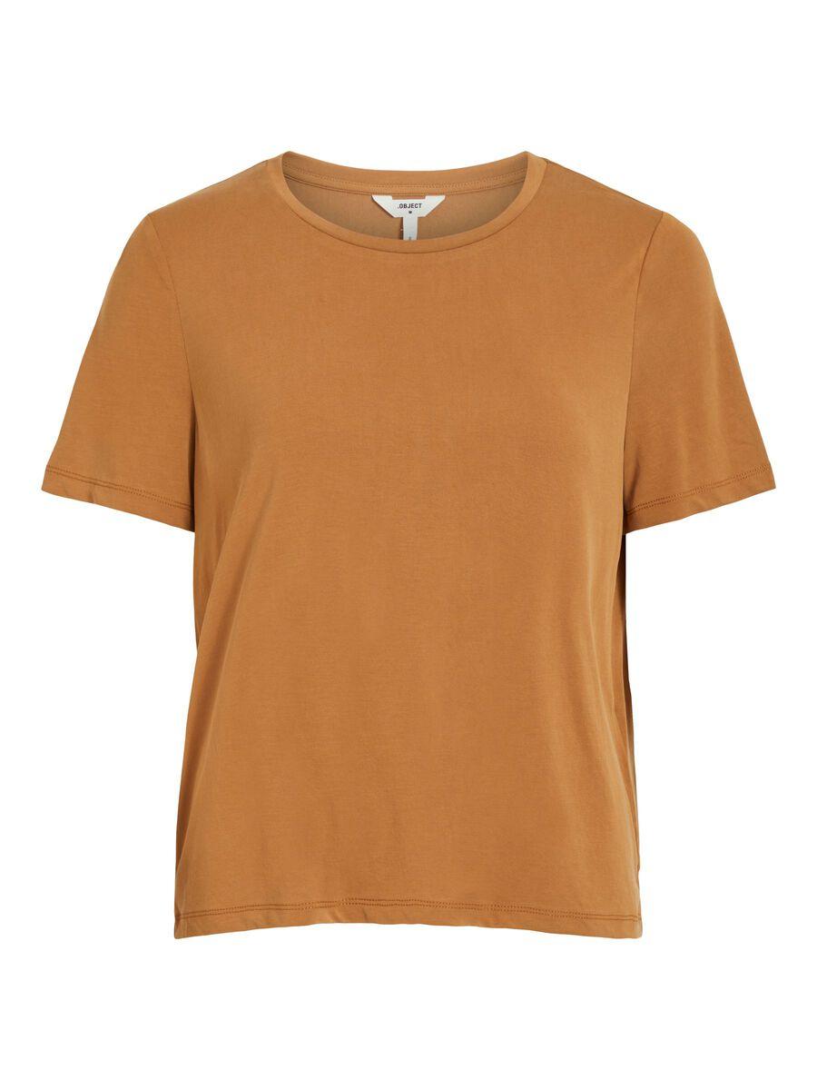 OBJECT COLLECTORS ITEM O-neck T-shirt Dames Bruin