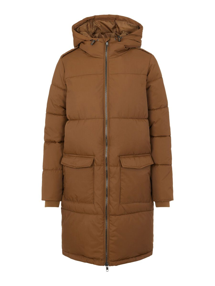 Object Collectors Item HOODED QUILTED COAT, Sepia, highres - 23030254_Sepia_001.jpg