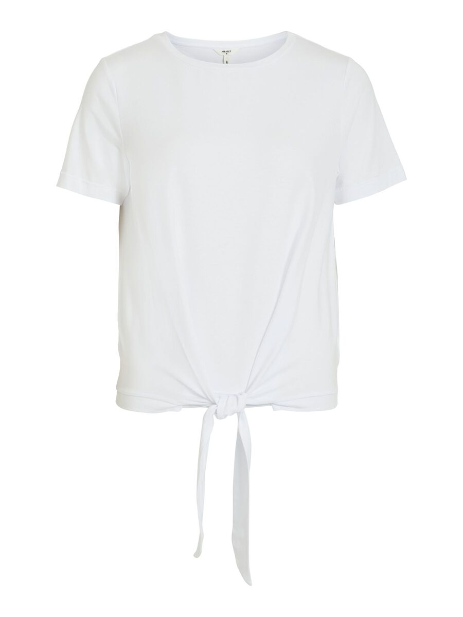 OBJECT COLLECTORS ITEM Geknoopte Taille T-shirt Dames White
