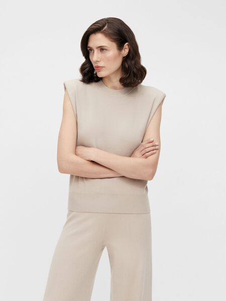 SHOULDER PAD KNITTED TOP