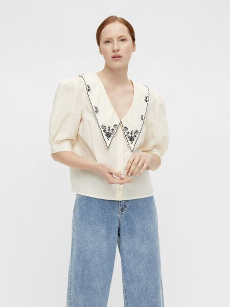 STATEMENT-KRAGE BLUSE