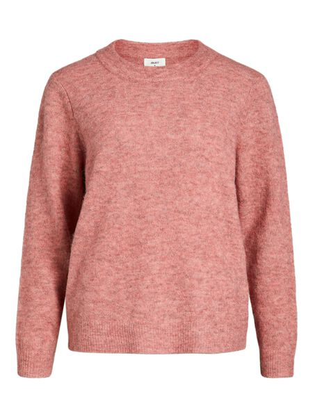 Object Collectors Item ROUND NECK KNITTED PULLOVER, Withered Rose, highres - 23030242_WitheredRose_702593_001.jpg