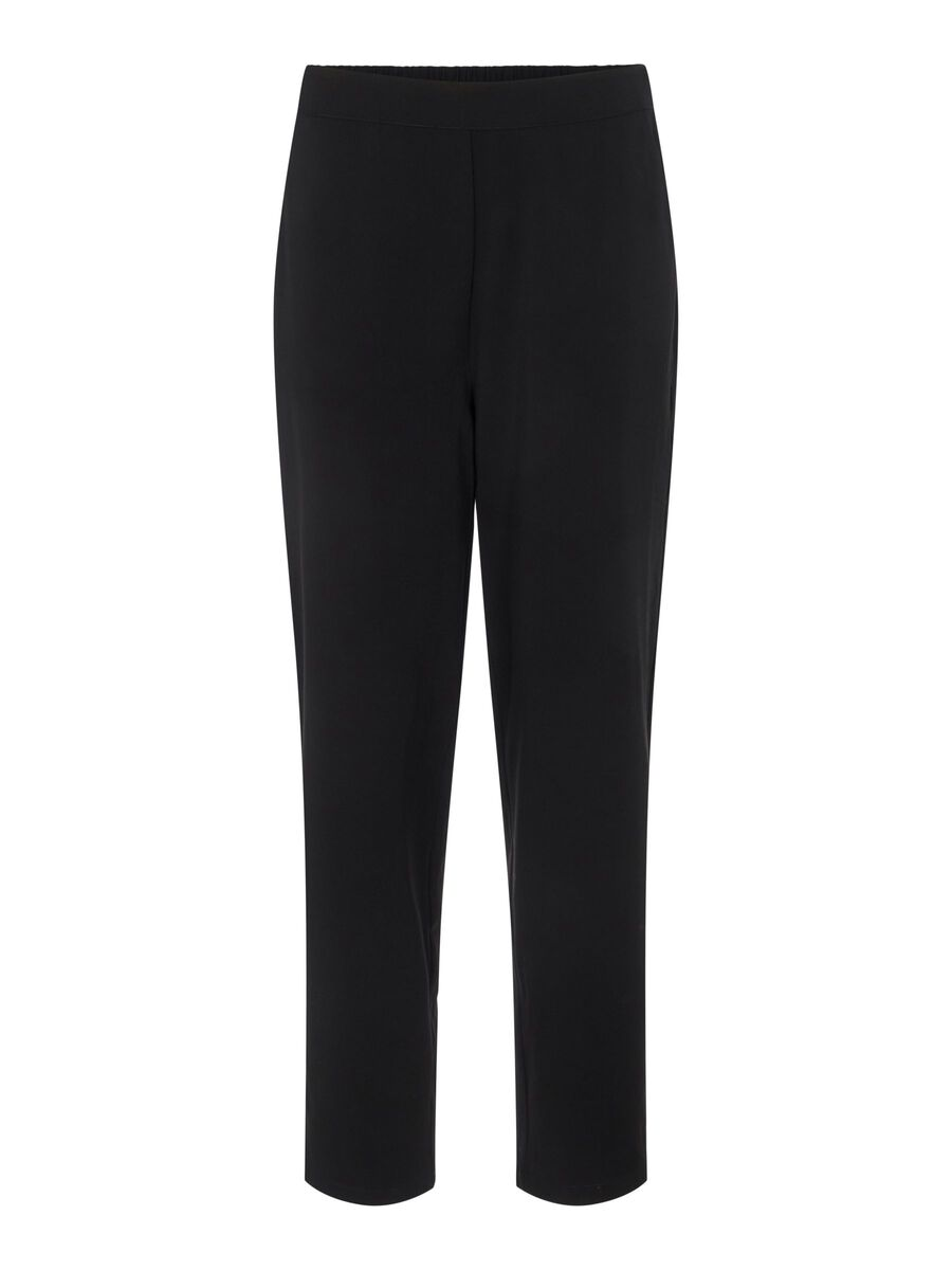 CROPPED TROUSERS, Black, highres