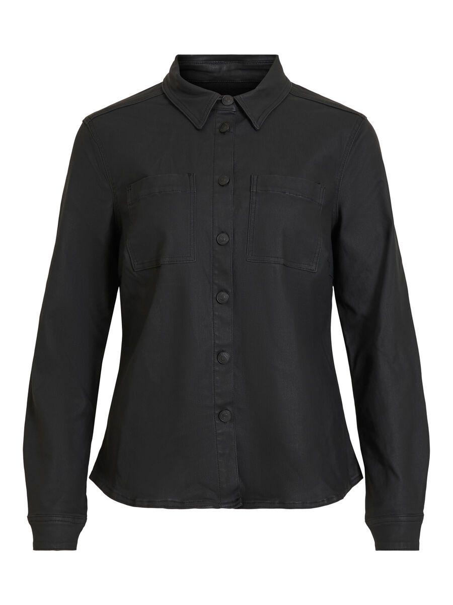 OBJECT COLLECTORS ITEM Gecoate Overhemd Dames Zwart