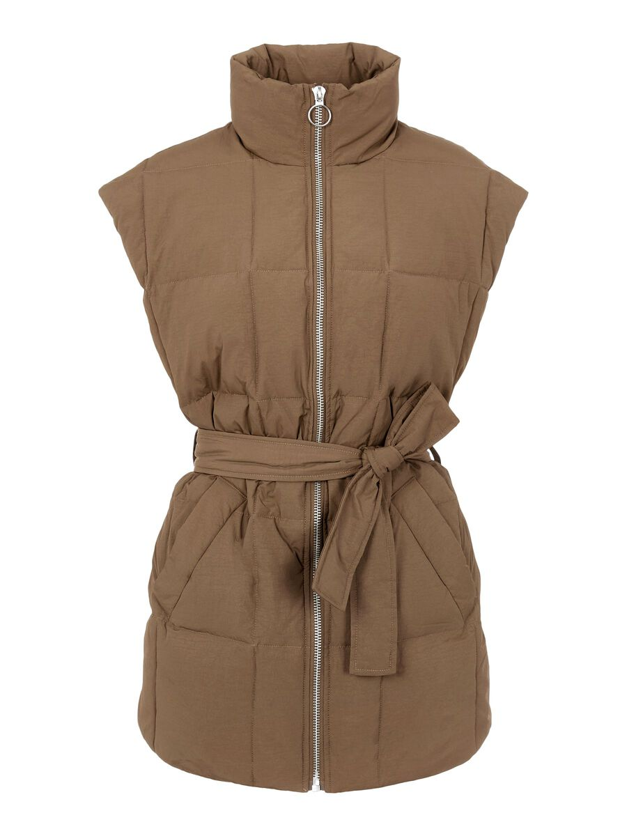 Object Collectors Item TIE WAIST PADDED GILET, Sepia, highres - 23036331_Sepia_001.jpg