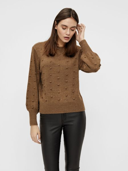 Object Collectors Item RIB ROUND NECK KNITTED PULLOVER, Fossil, highres - 23033261_Fossil_003.jpg