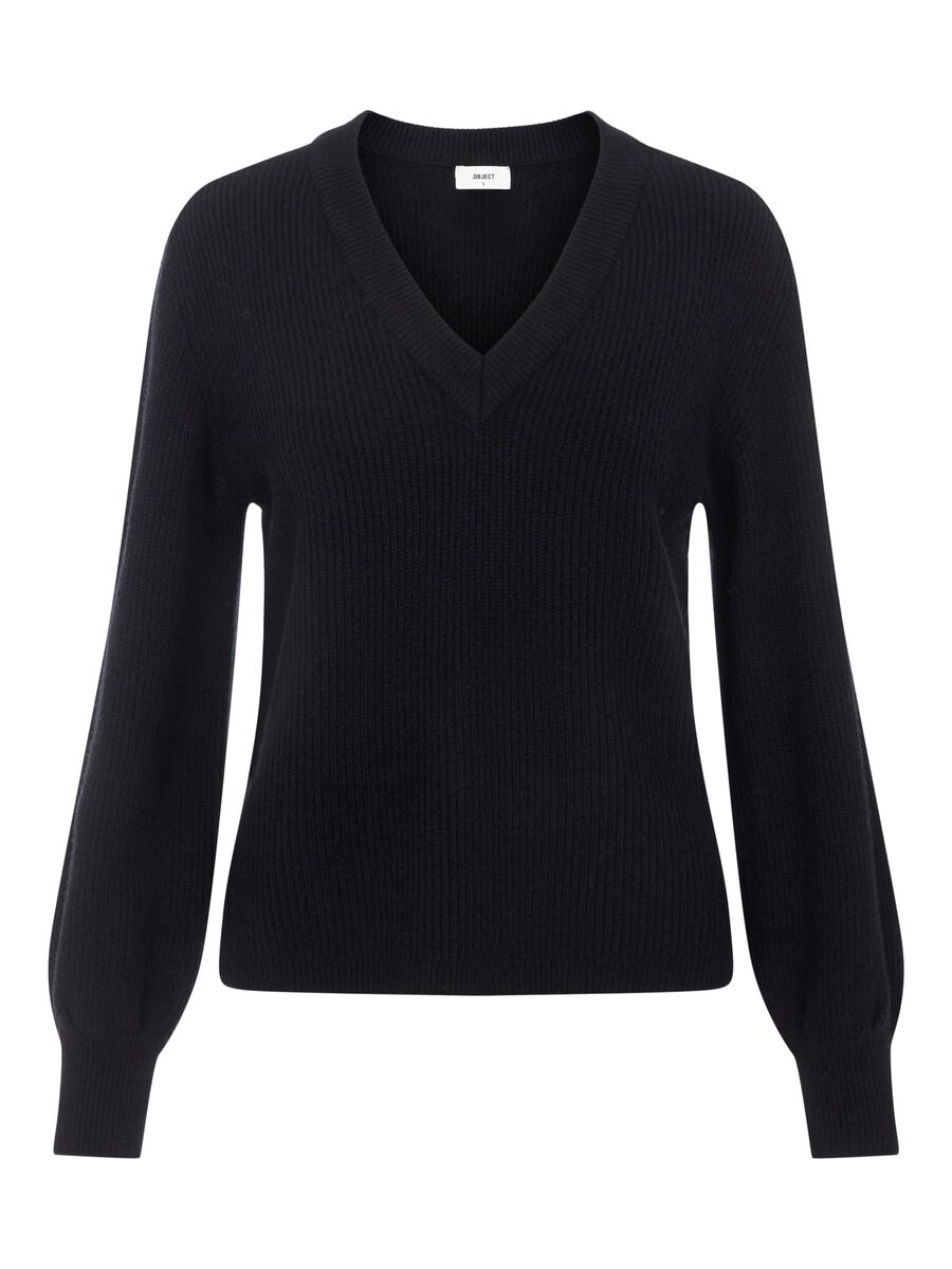 Object Collectors Item RIB KNITTED PULLOVER, Black, highres - 23035493_Black_001.jpg