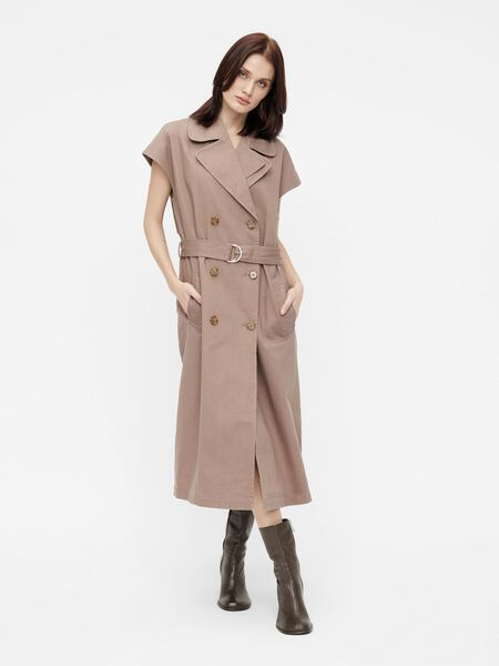 CAPPED SLEEVE TRENCHCOAT