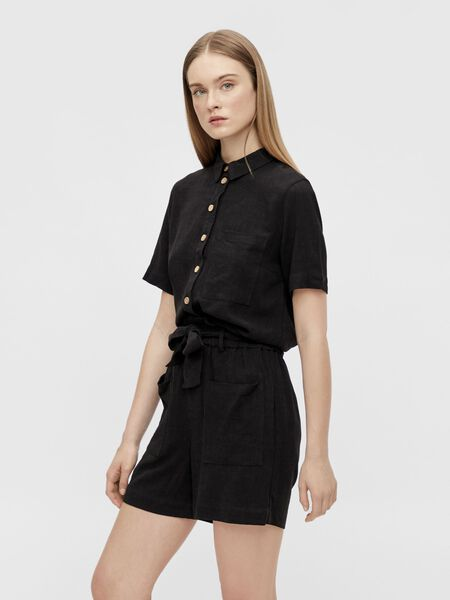 BUTTON-UP FRONT SHORT SLEEVED TOP