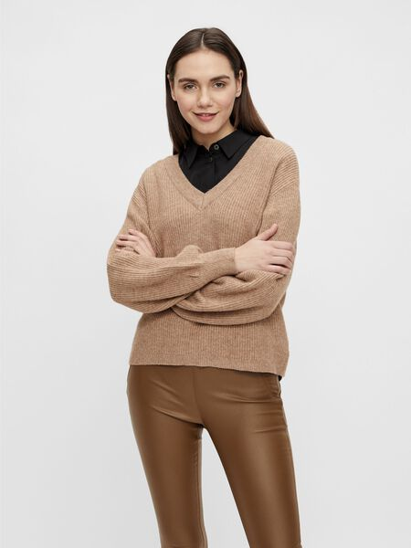 Object Collectors Item RIB KNITTED PULLOVER, Chipmunk, highres - 23035493_Chipmunk_851305_003.jpg