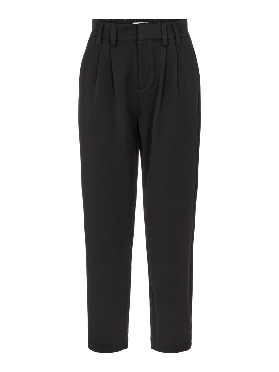Object Collectors Item STRAIGHT FIT HIGH WAISTED TROUSERS, Black, highres - 23034572_Black_001.jpg