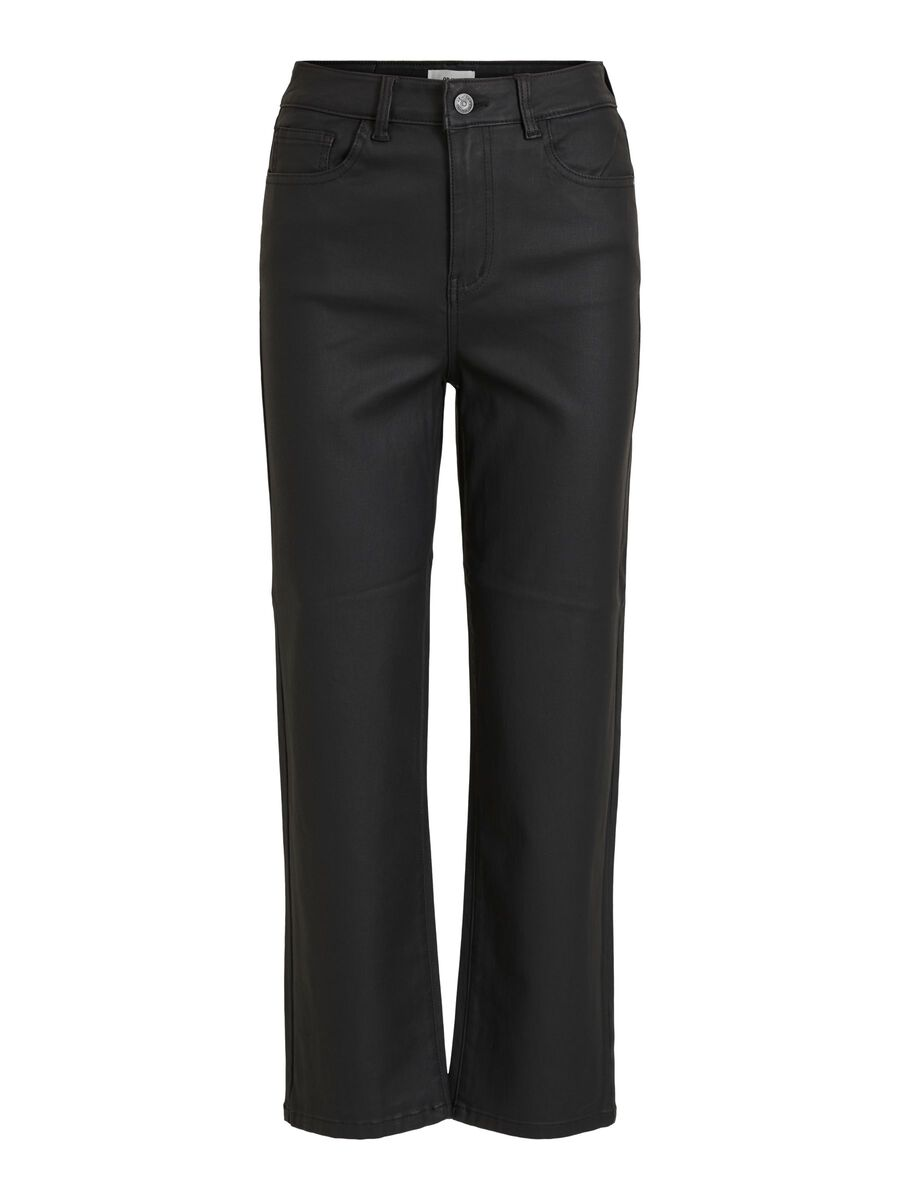 Object Collectors Item HIGH WAISTED WIDE FIT JEANS, Black, highres - 23033918_Black_001.jpg