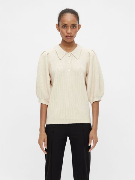 PUFF SLEEVED KNITTED TOP