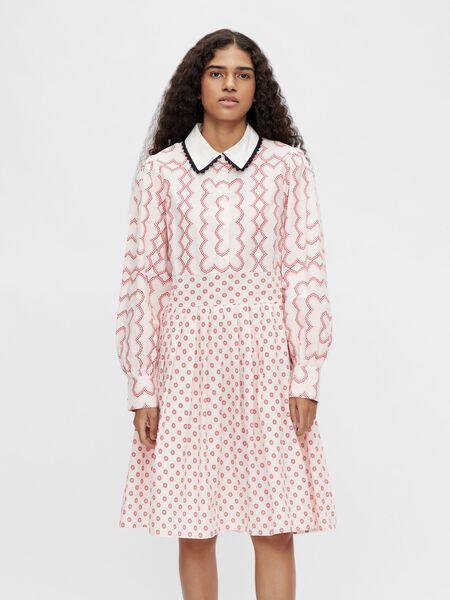 LACE DETAIL SHIRT DRESS