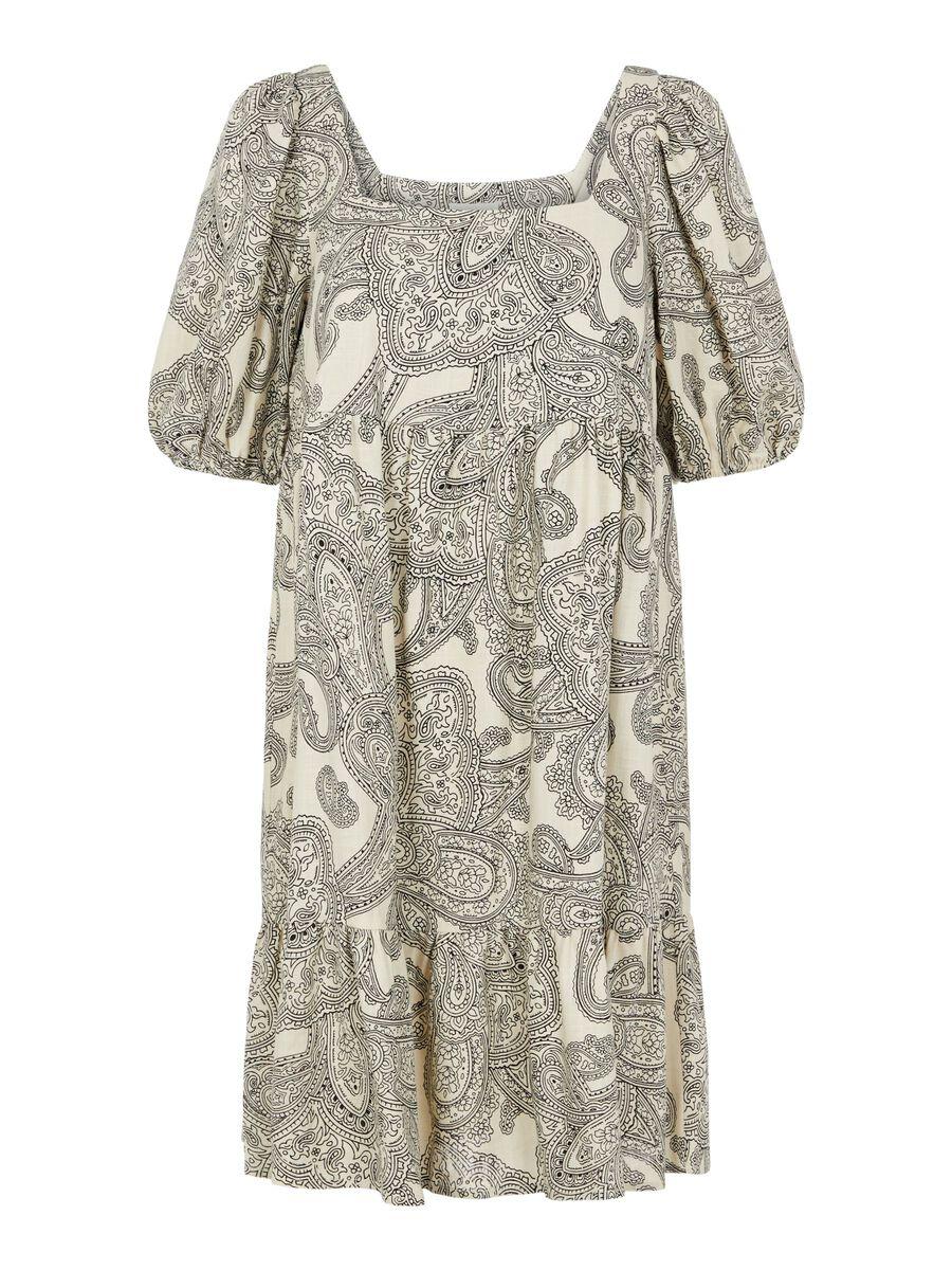 Object Collectors Item PAISLEY PRINT PUFF SLEEVED DRESS, Sandshell, highres - 23035618_Sandshell_852724_001.jpg