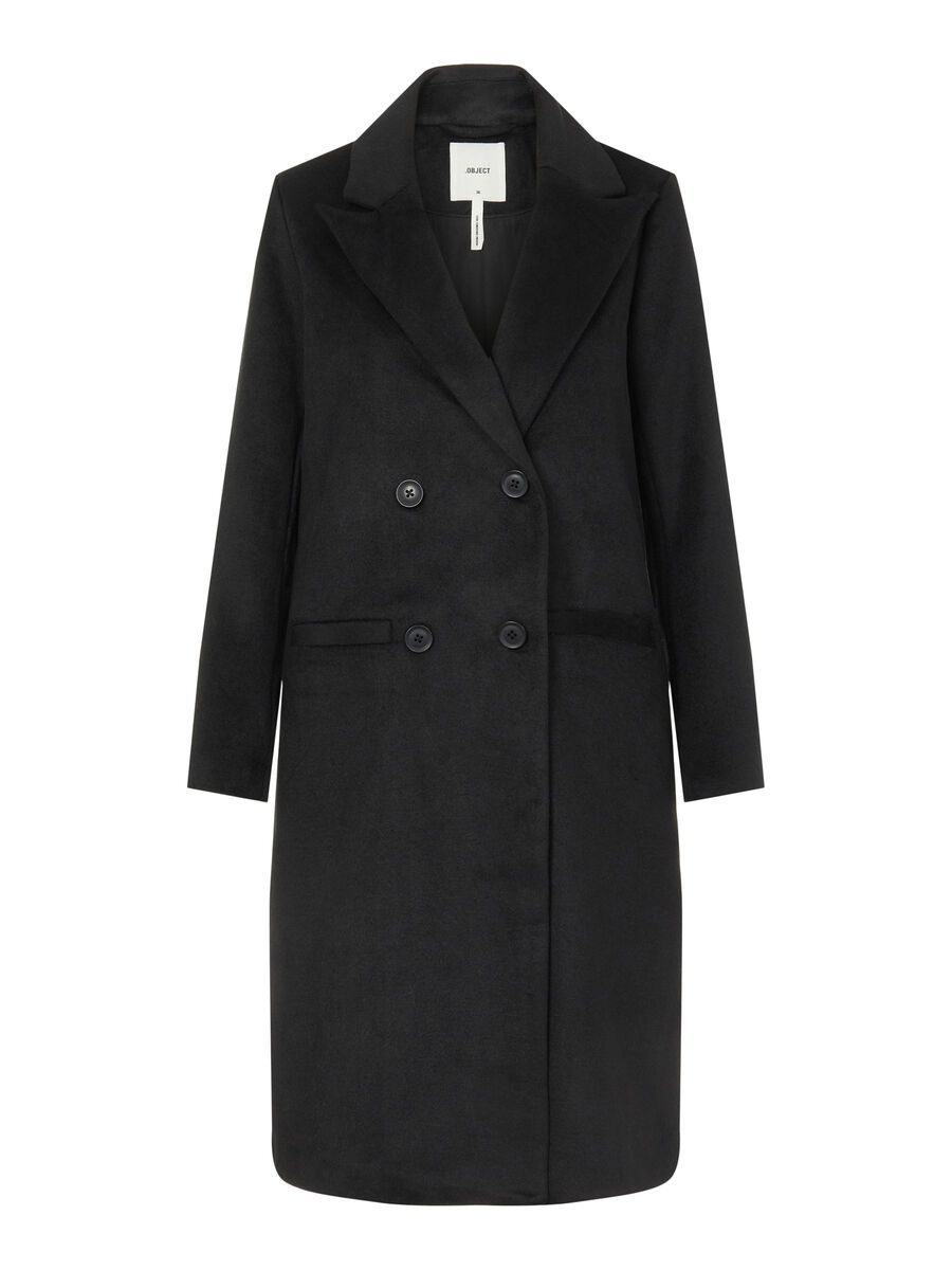 Object Collectors Item DOUBLE BREASTED COAT, Black, highres - 23035740_Black_001.jpg