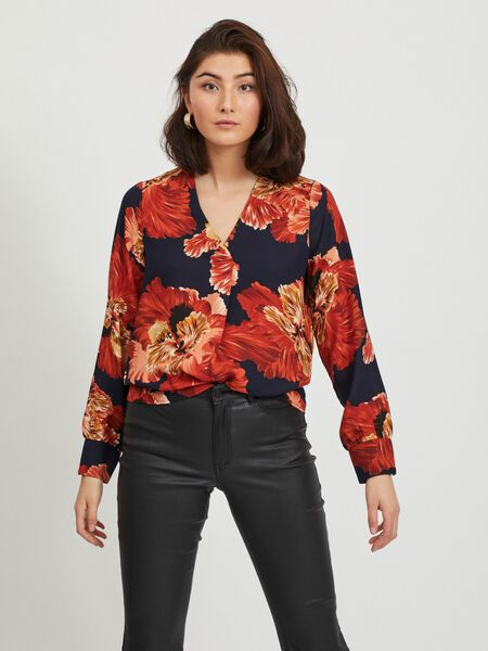 FLORAL LONG SLEEVED BLOUSE