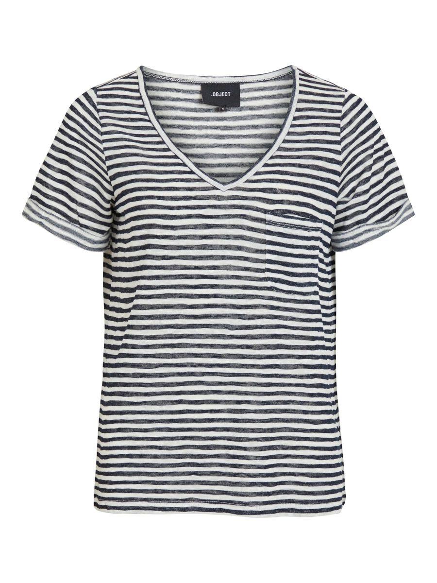 OBJECT COLLECTORS ITEM V-hals T-shirt Dames Blauw