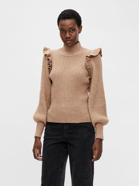 Object Collectors Item HIGH NECK KNITTED PULLOVER, Chipmunk, highres - 23036445_Chipmunk_003.jpg
