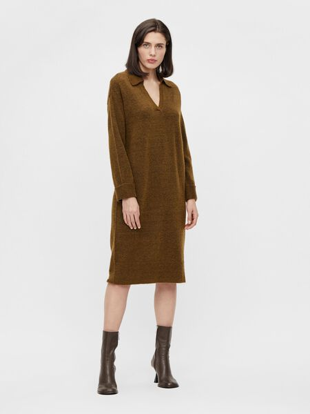Object Collectors Item LONG KNITTED DRESS, Sepia, highres - 23036371_Sepia_879970_003.jpg