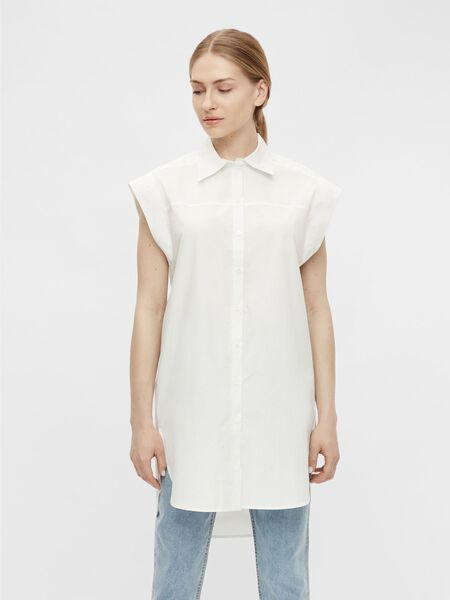 CAPPED SLEEVE SHIRT DRESS