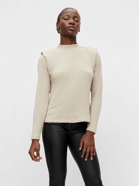 Object Collectors Item SHOULDER DETAIL LONG SLEEVED TOP, Silver Gray, highres - 23036942_SilverGray_892363_003.jpg