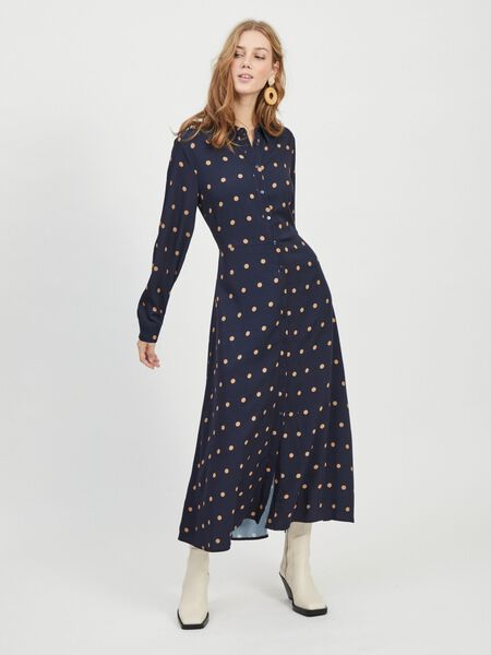 LONG SLEEVED SHIRT DRESS