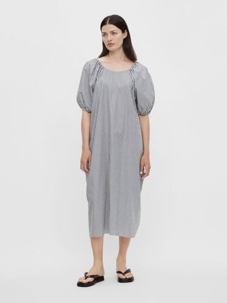 REVERSIBLE PUFF SLEEVED DRESS