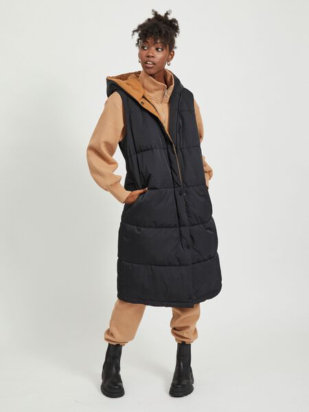 QUILTED HOODED WAISTCOAT
