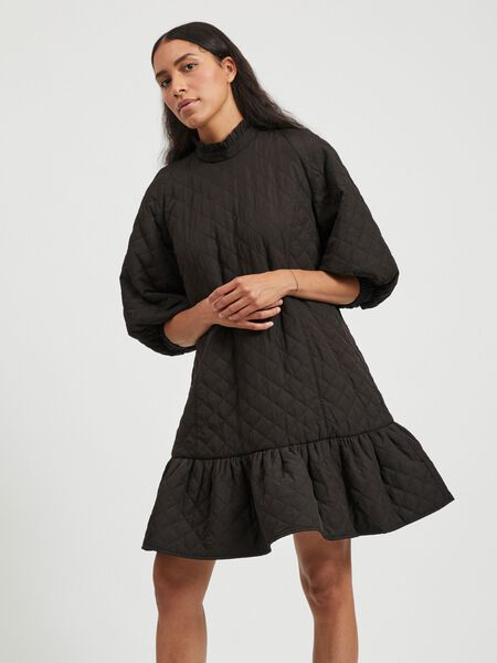 QUILTED LONG SLEEVED DRESS