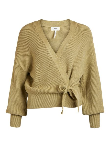 WRAP KNITTED CARDIGAN