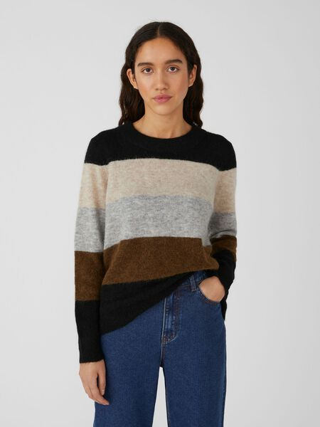 Object Collectors Item ROUND NECK KNITTED PULLOVER, Silver Gray, highres - 23030242_SilverGray_910980_003.jpg