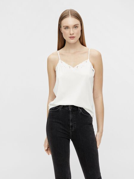 EMBROIDERED DETAIL STRAP TOP