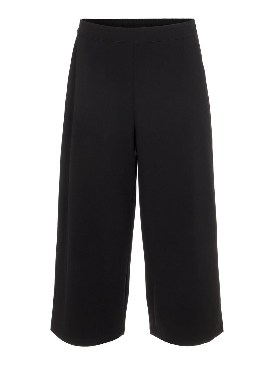 CULOTTE TROUSERS, Black, highres