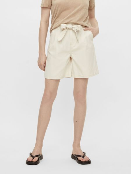 TWILL HIGH WAISTED SHORTS