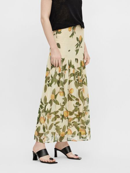 LEMON PRINT MAXI SKIRT