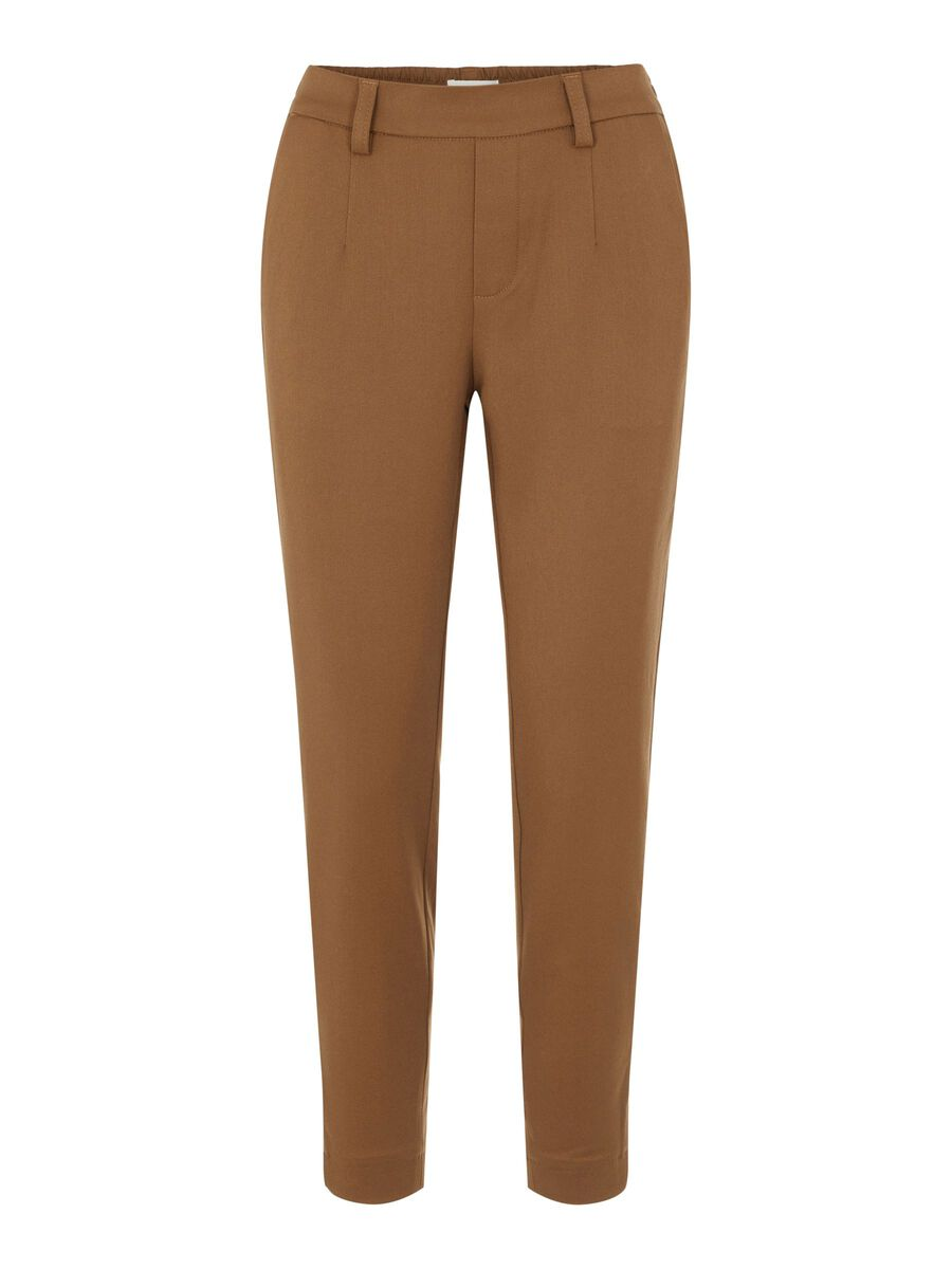 SLIM FIT TROUSERS, Sepia, highres
