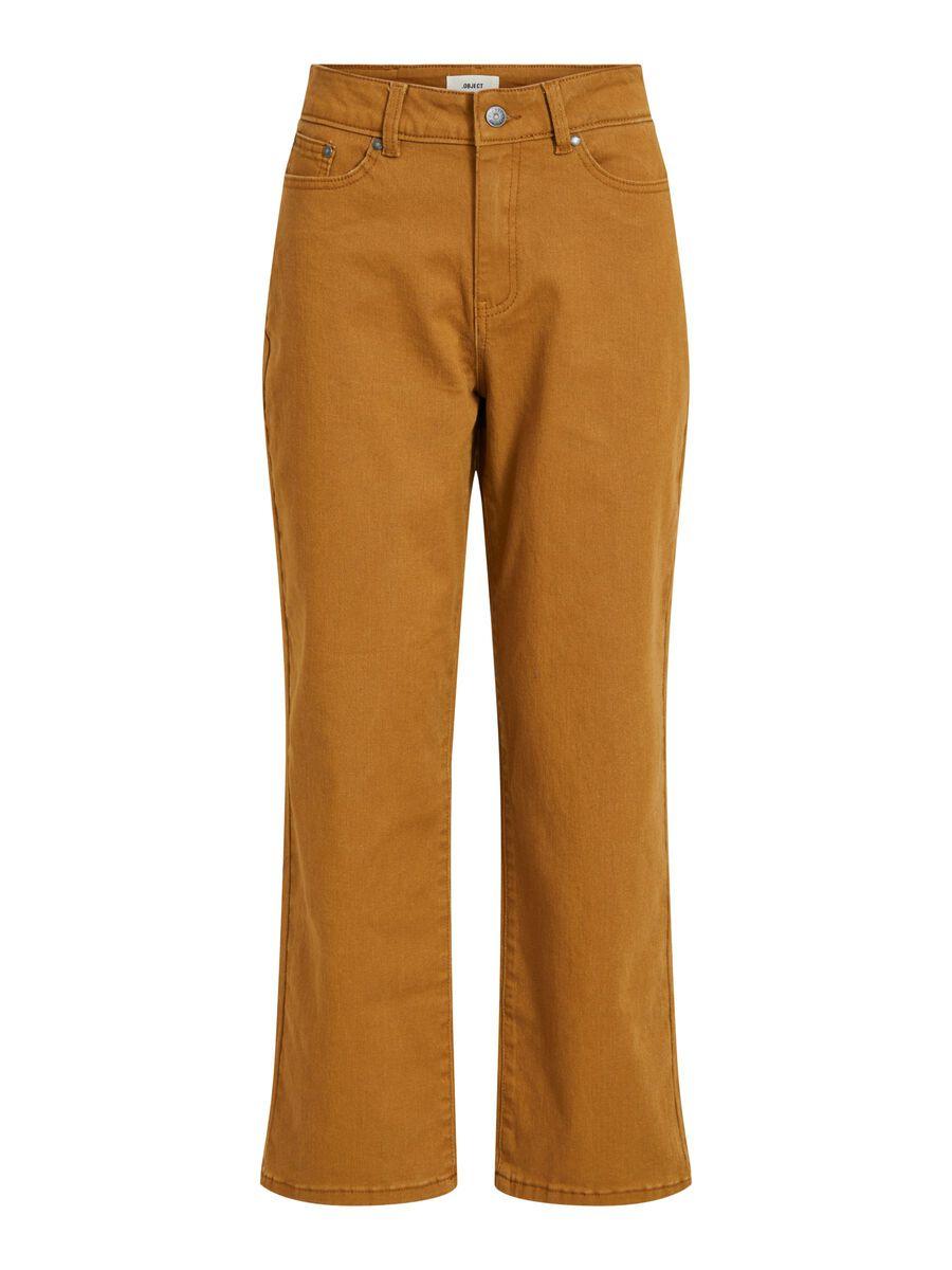 OBJECT COLLECTORS ITEM Wijde High-waist Jeans Dames Bruin