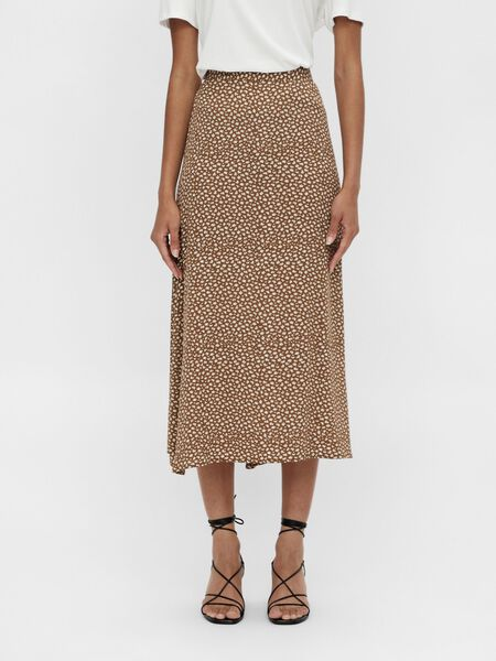Object Collectors Item HIGH WAISTED MIDI SKIRT, Sepia, highres - 23036052_Sepia_869775_003.jpg
