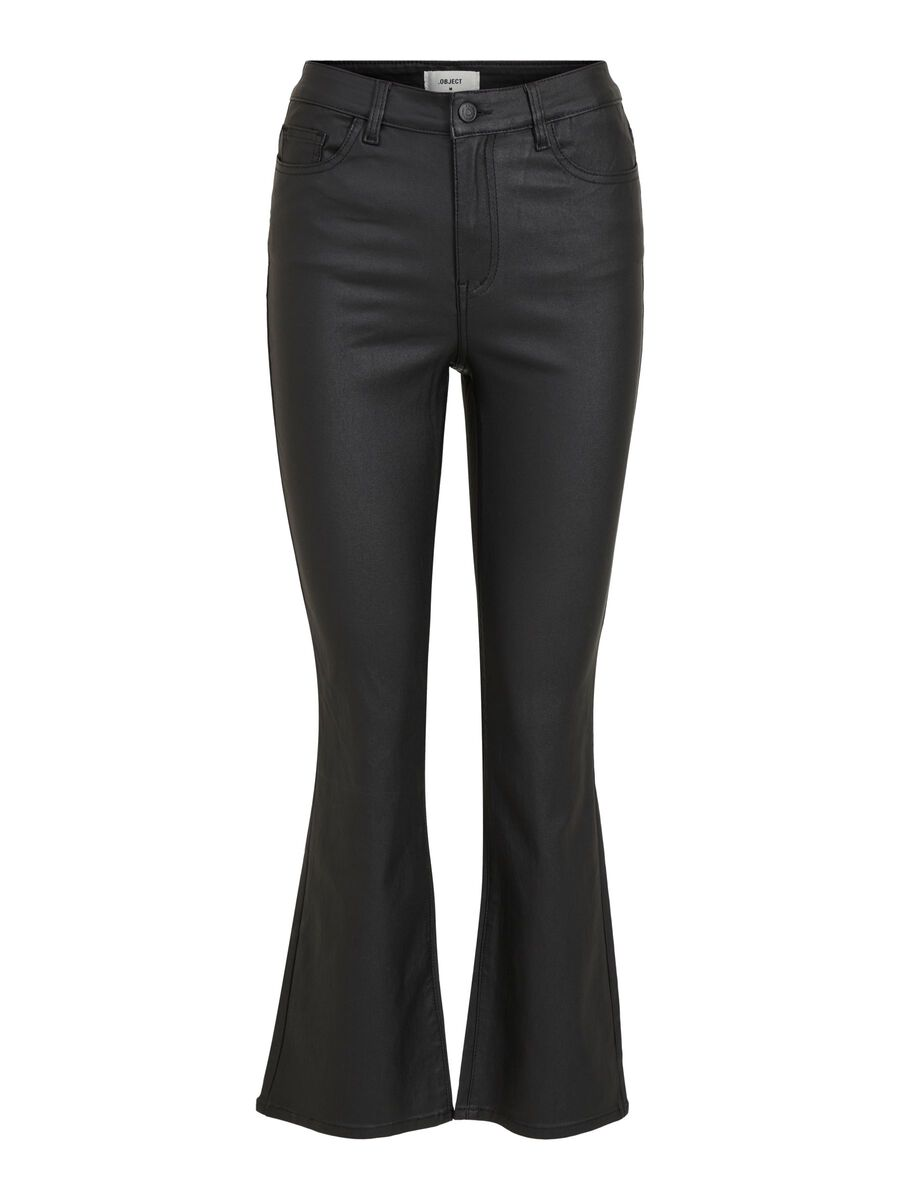 Object Collectors Item COATED FLARED TROUSERS, Black, highres - 23034444_Black_001.jpg