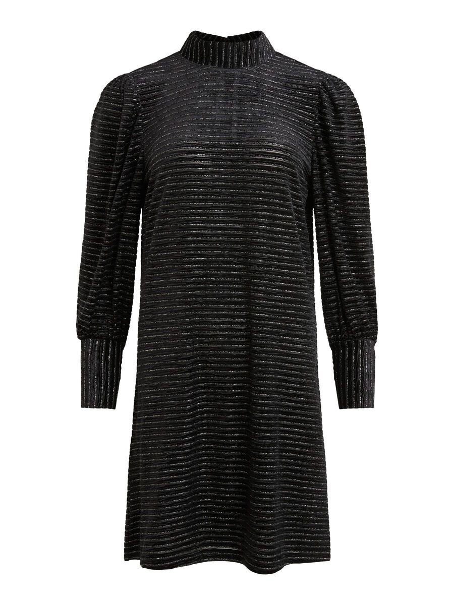 SHORT LONG SLEEVED DRESS, Black, highres