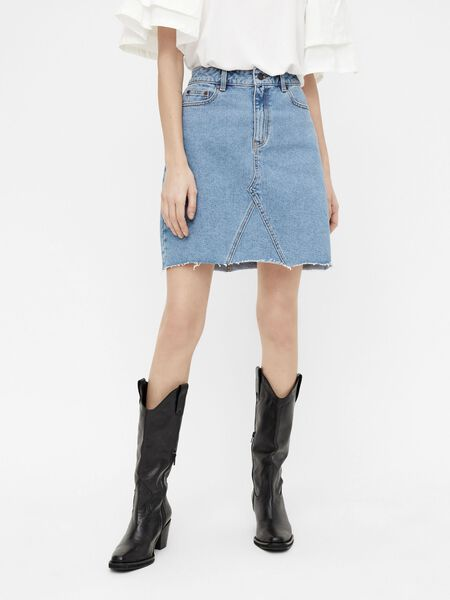HIGH-WAIST DENIM ROK