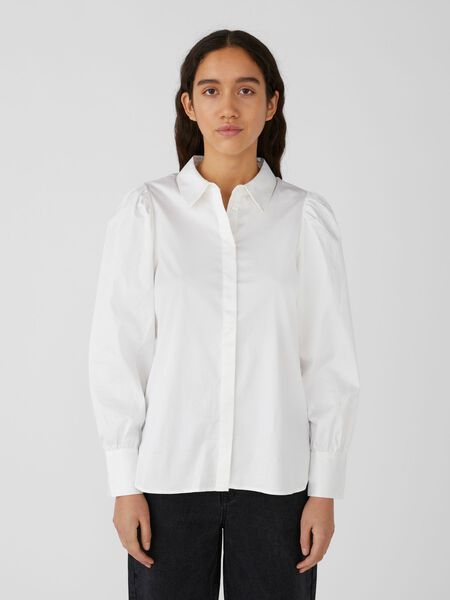 Object Collectors Item BALLOON SLEEVED SHIRT, White, highres - 23037704_White_003.jpg