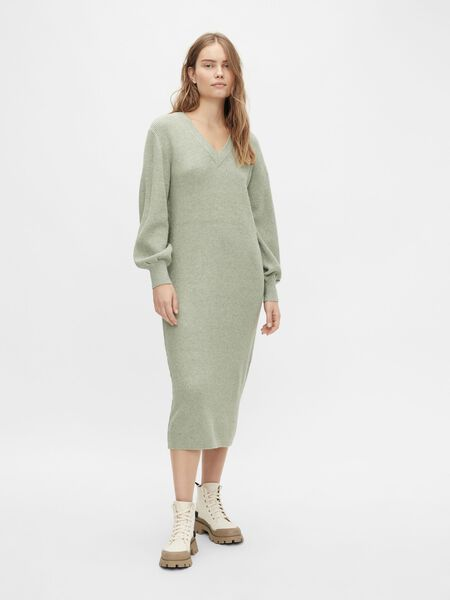 Object Collectors Item BALLOON SLEEVED KNITTED DRESS, Seagrass, highres - 23035775_Seagrass_931189_003.jpg