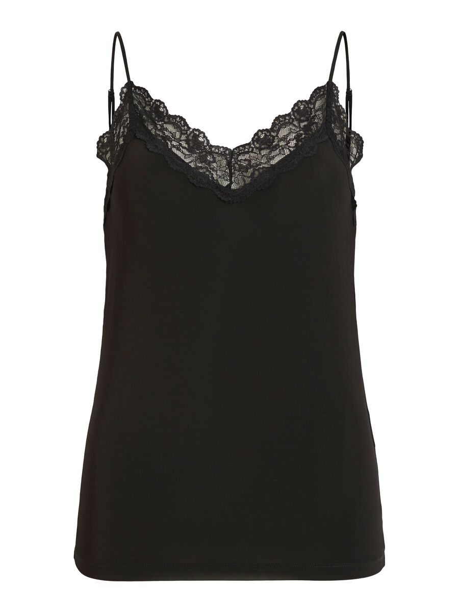 Object Collectors Item LACE SLEEVELESS TOP, Black, highres - 23031016_Black_001.jpg