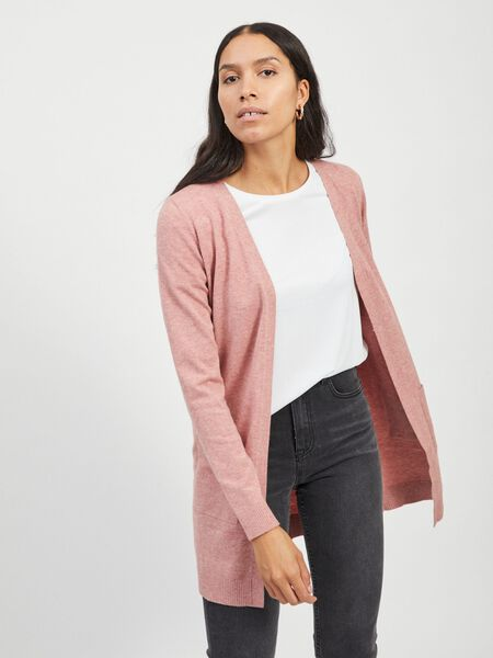 LONG, KNITTED CARDIGAN
