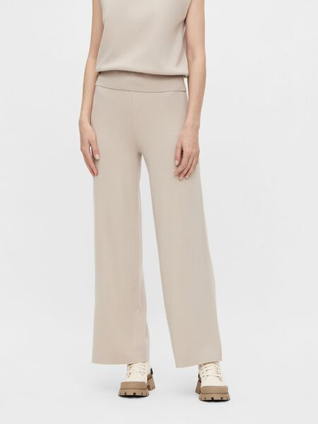 Object Collectors Item KNITTED WIDE-LEG TROUSERS, Silver Gray, highres - 23036272_SilverGray_003.jpg